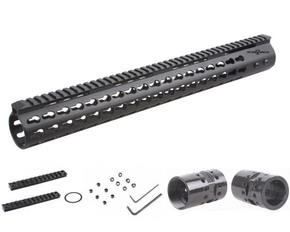 Vector Optics Tactical .308 Slim KeyMod 17'' Inch Free Float Handguard Picatinny Rail Mount Scope Bracket fit AR10 AR 10 308 стоимость