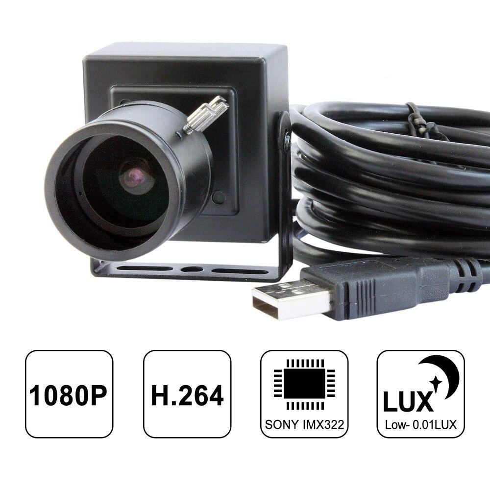 2MP CCTV Surveillance Webcam Sony IMX322 H 264 30fps MIC Audio Manual Varifocal Low Light Mini