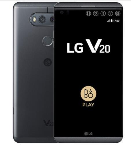 LG V20 H910N F800 разблокированный 5,7 дюймов четырехъядерный процессор 4 ГБ ОЗУ 64 Гб ПЗУ 16 МП LTE отпечаток пальца Android мобильный телефон с двумя sim-картами - Цвет: Черный