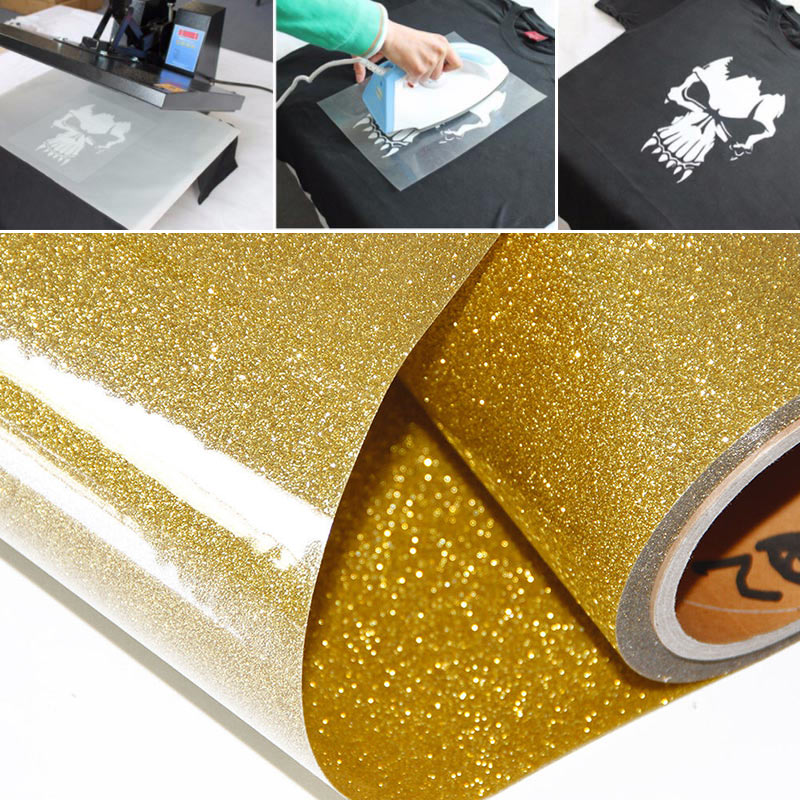 Durable Heat Transfer Paper T-Shirt Print Paper Iron On Paper Creative A4 Glitter Textiles Painting Paper