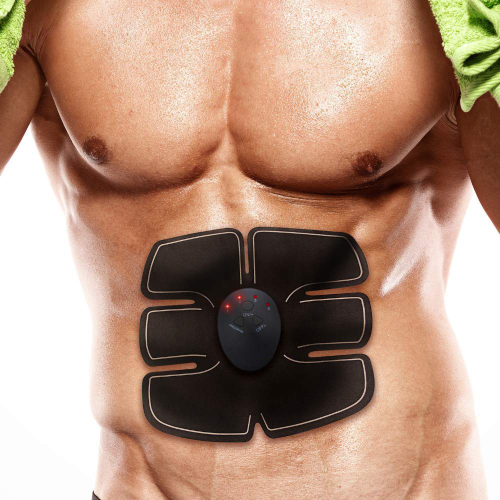 Zacro Abdominal Machine Ems Abdominal Muscle Trainer Vibration Fitness Machine for Exercise Myostimulator Slimming Belt Unisex