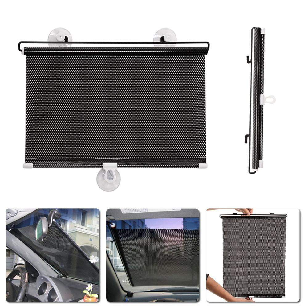 40*60cm Retractable Car Side Window Sun Shade Curtain Windshield Sunshade Visor Shield Cover Mesh Solar Protect Auto Accessories все цены