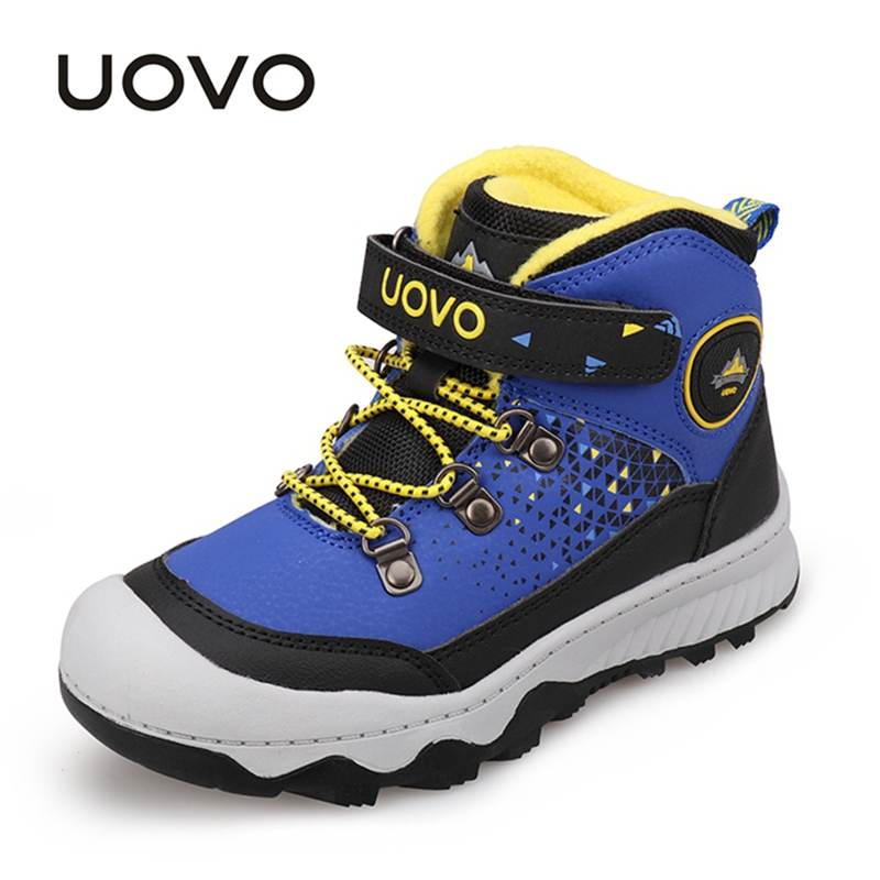 Water Repellent Outdoor Shoes UOVO Fashion New Arrival Kids Boys Girls Sport Shoes Anti-slip Children Casual Sneakers Eur #30-38