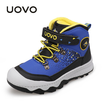 Water Repellent Outdoor Shoes UOVO Fashion New Arrival Kids Boys Girls Sport Shoes Anti-slip Children Casual Sneakers Eur #30-38 рама белоснежка donna 2201 bb 50x40 см