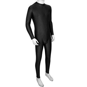 Image 3 - IIXPIN body de Ballet para hombre, Ropa de baile, traje de una pieza con cuello falso, manga larga, ceñido, leotardo, bailarina de Ballet