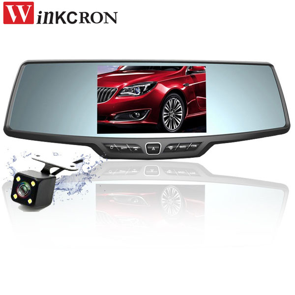 Best 4.3 Car DVR Camera Rearview Mirror Full HD 1080P Car Dash Cam Parking Night Vision Car DVR Dual Camera Video Recorder plusobd best car camera for bmw 5 series e60 e61 rearview mirror camera video recorder automobile car dvr cheapest camcorder