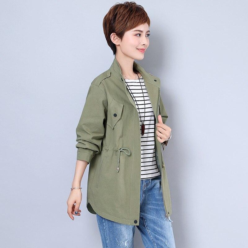 Ropa Plus Streetwear Jaqueta Mujer Feminina De Color navy Casacos Army Femmes Blue Taille 2018 Green Automne Mode Jeans Survêtement Vêtements caramel Chamarras cTlKF1J3