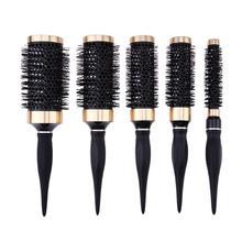 Profesjonalna szczotka do włosów grzebień Salon okrągła szczotka do włosów kręcenie włosów grzebień fryzjerstwo żaroodporne szczotki do włosów stylizacja akcesoria