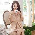 Новые моды для женщин пижамы установить три четверти длиной до колен халат сексуальный халат и платье устанавливает 2 цвета по желанию бесплатная доставка