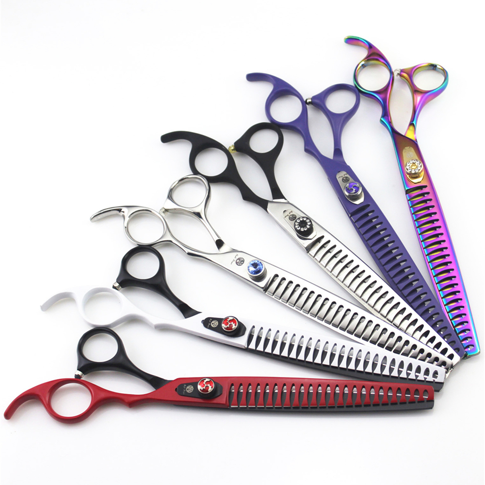 8 0 inch Professional Dog Pet Thinning Scissors Grooming Shears Japan 440C High Quality Pet Thinning
