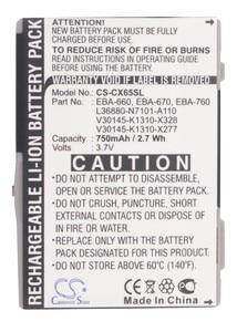 Cameron Sino 750mAh Battery EBA-760,EBA-770 for Siemens CF75,CFX65,CT66,CT72,CT75,CTX65,CV65,CV72,CV75,CX65,CX66,CX70,CX75,CXI65(China)