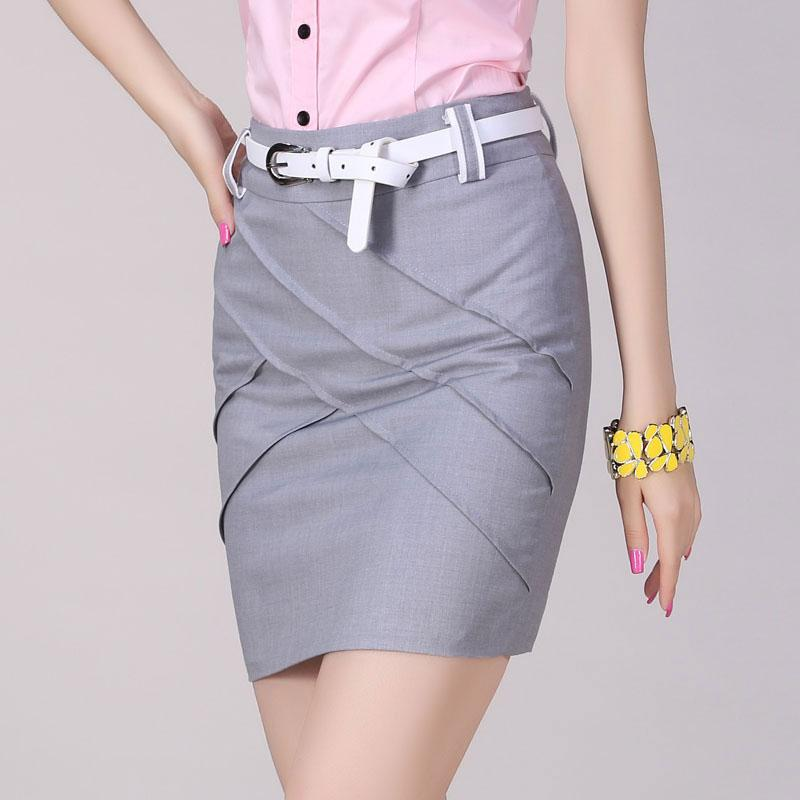 MXTOPPY official store 2017 Summer Pencil skirt New Ol Elegant Women Saia Fashion Package Hip Skirt Slim Sexy Pleated Faldas mujer