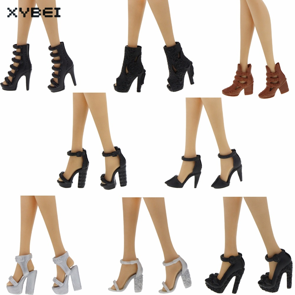 Excellent Quality Shoes Colorful High Heel Assorted Style Sandals For Barbie Doll Clothes Dress DIY Accessories Kids Gift Toys 500pairs lot wholesale high quality high heel shoes for 30cm dolls mixed styles sandals slippers 10pairs pack doll shoes pack