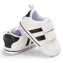Детские кроссовки с мягкой подошвой на липучке для малышей, детские кроссовки для мальчиков и девочек, детская обувь, Новорожденные до 18 месяцев