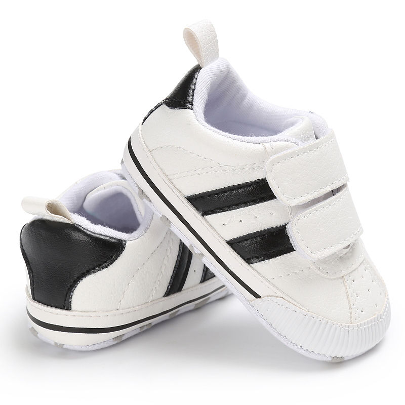 Infant Toddler Soft Sole Hook Loop Prewalker Sneakers Baby Boy Girl Crib Shoes Newborn To 18 Months