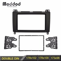 Double Din Stereo Panel for Benz A CLASS W169 B CLASS W245 Fascia Radio Dash Mounting Refit Install Trim Kit Face Frame Bezel