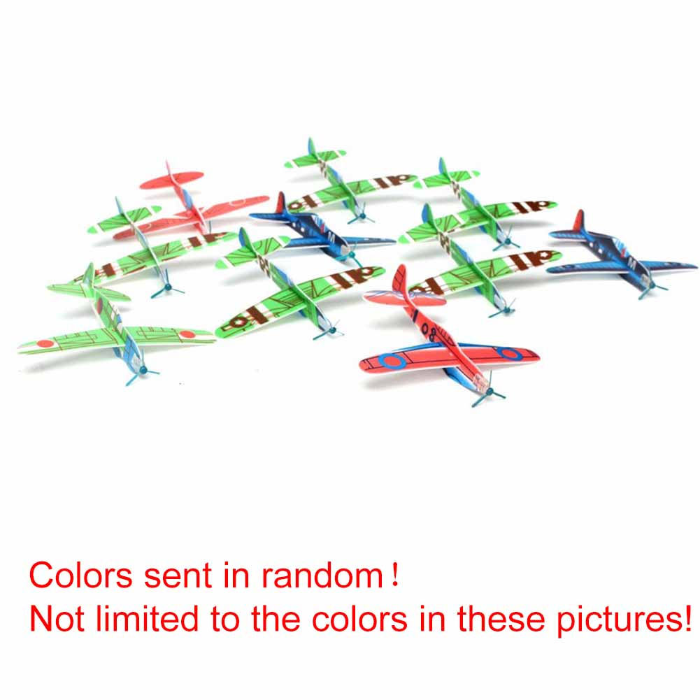 Hot Sale DIY Plastic Aeroplane Model Super Wing Flying Glider Plane Toys Hand Throw Flying Glider Planes For Children Kids Game