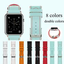 EIMO Leather Loop watchband for apple watch band apple watch 4 band 44 mm 42mm 38mm 40mm iwatch strap Bracelet Genuine Leather цена