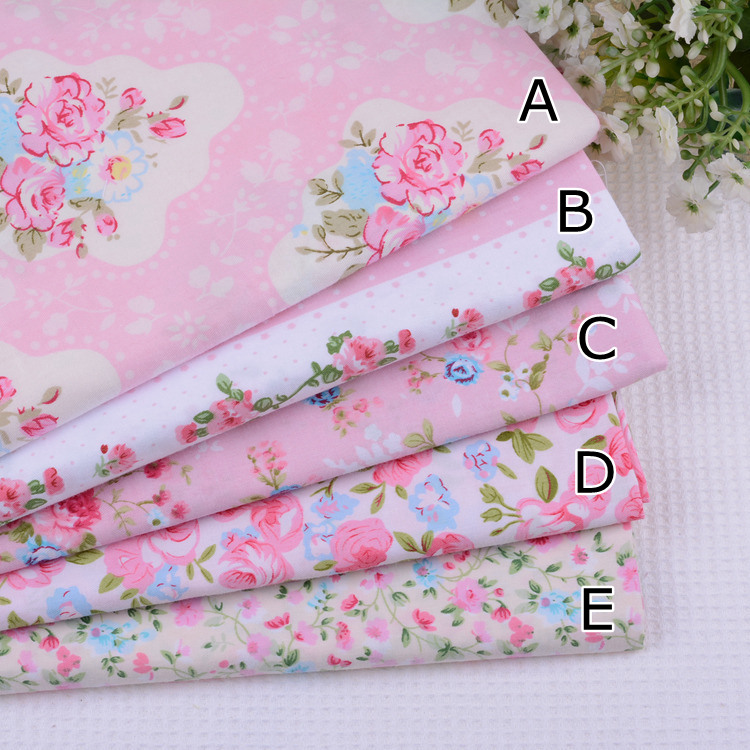 Materiale Per Shabby Chic.Shabby Chic Pink Floral 100 Cotton Patchwork Fabric Bundle Cloth For Quilting Sewing Tilda Dolls