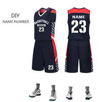 2019 Men Basketball Jersey Set Sport Shirt & Shorts Student Team Uniform Custom Logo Number Name Training Suit