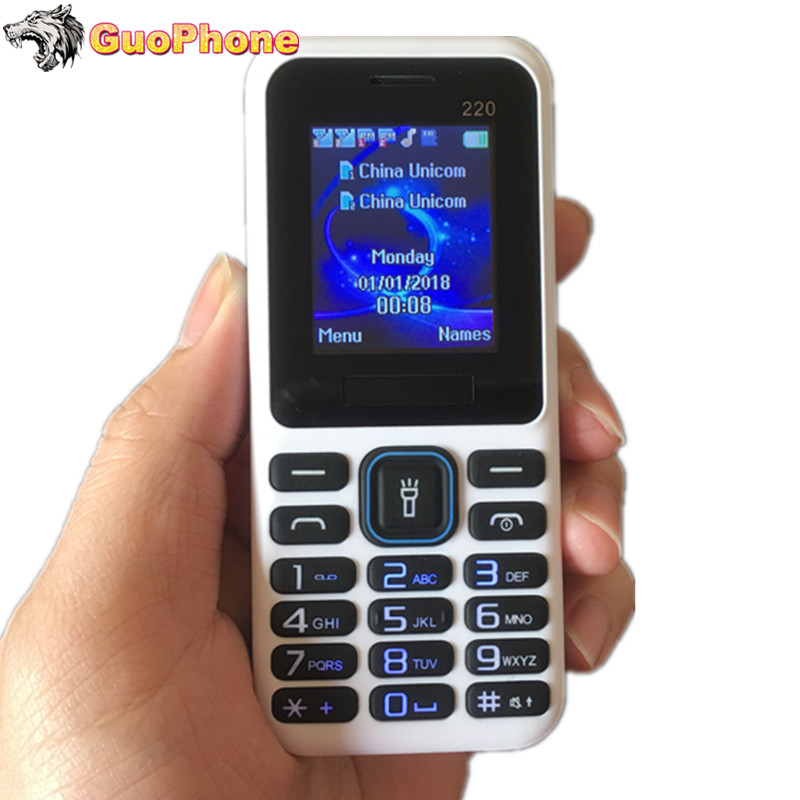 """2018 New Low Price Mobile 1.8"""" Dual SIM Cards FM MP3 Camera FM Flashlight Cheap Feature Phone(Can Add Russian Keyboard) GP002"""