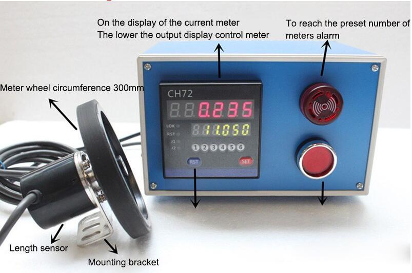 Meter Recorder Electronic Digital Meter Machine Meter Electronic Encoder Wheel Roll to Measure Length CH72