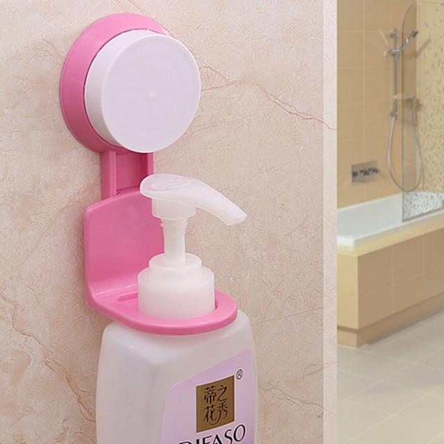 Practical Bathroom Shampoo Shower Gel Bottle Holder Wall