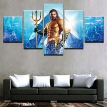 Abstract Posters Wall Art Canvas Painting Justice League Movie Superhero Aquaman God of War Ascension Pictures Home Decor Prints(China)