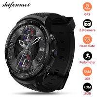 Shifenmei Тор про 3g gps WI FI Smartwatch Android 5,1 4 ядра 1 ГБ 16 ГБ 2,0 МП Камера монитор сердечного ритма смарт часы Для мужчин Для женщин