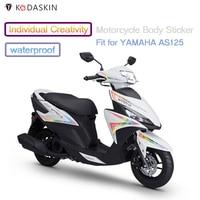 KODASKIN Motorcycle Accessories Waterproof Body Sticker for YAMAHA AS125
