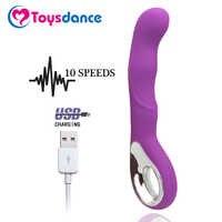 Toysdance 10 Modi Silikon G-spot Vibrator Für Frauen USB Aufladbare Leistungsstarke Zauberstab Massager Erwachsene Sex Spielzeug Orgasmus Dildo vibe