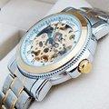 Mens Ouro Oco Relógio Automático Projeto Original de Luxo