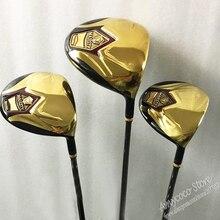 Новый cooyute Клюшки для гольфа величество супер 7 Гольф деревянный набор 1 Driver 3 5 фарватера леса-клубы графит Гольф вал шлем бесплатная доставка