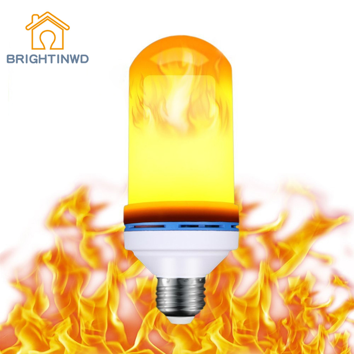 BRIGHTINWD Flame Light LED Torch Light Emulation Flame E27 Dancing Light Bar Light Bulb 7W flame trees of thika