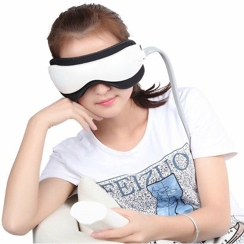 Electric Vibration Acupoint Eye Massager Machine Music Magnetic Air Pressure Infrared Heating Therapy Massage Eye Care
