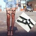 Ligas de Perna de couro rebite 2014 Rcok perna anel do vintage Plus Size vestido garter belt Atacado frete grátis