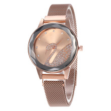 Hot sale Fashion Magnetic Casual Quartz Women watches Crystal Steel Clock Relogi