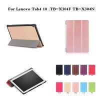 For Lenovo Tab4 10 TB X304F TB X304N 10 Luxury PU Leather Flip Smart Sleep Cover