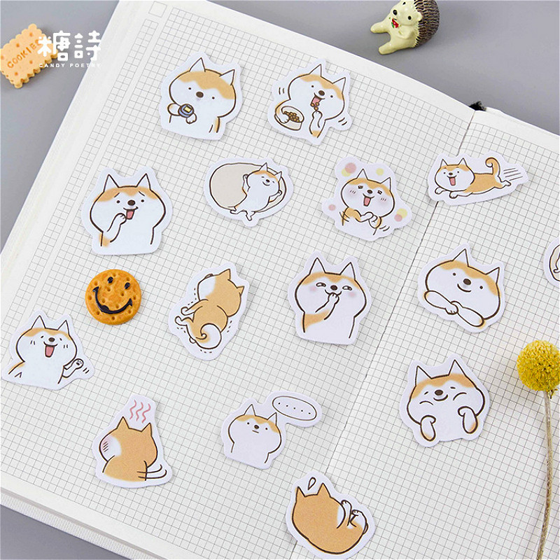 Beautiful Hot Sale 45pcs/set Corgis Memo Pad Paper Sticker Decoration Diy Album Scrapbooking Sticker Kawaii Stationery Gift