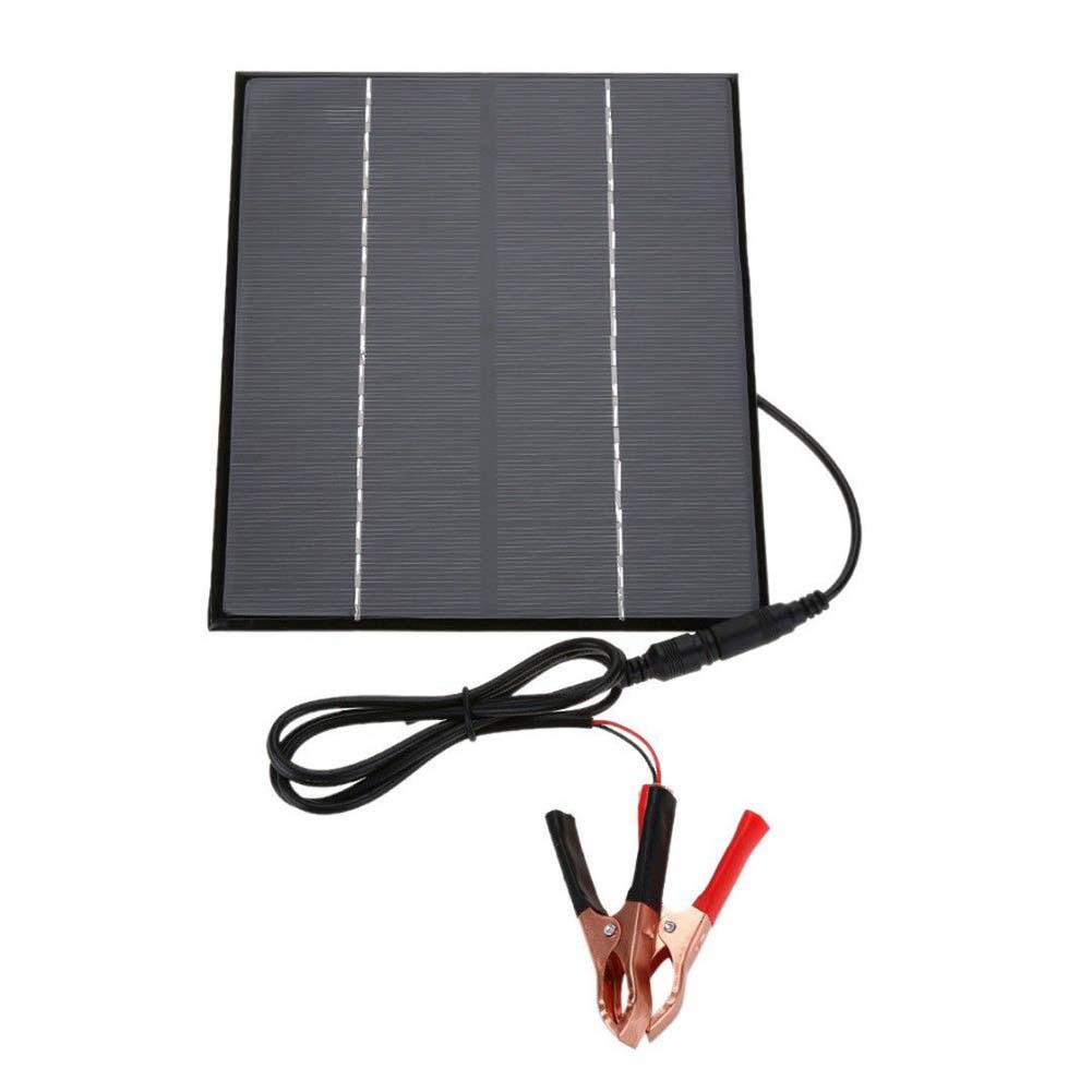 Portable Home 12V Car Camping Boat Battery Charger 5 2W Solar Panel 5521DC Output with Battery Clip JA55 in Solar Panel from Home Improvement
