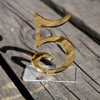 Vàng gương acrylic Số Bảng, Số Wedding Bảng Set, Wedding Bảng Decor, Bên hoặc Tổ Chức Sự Kiện Số Bảng Dấu Hiệu