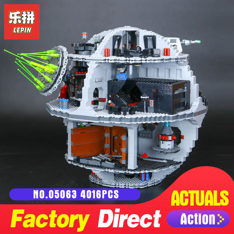 4016Pcs Lepin 05063 the Death UCS Star Building Block Bricks Toys Kits LegoINGlys 75159 for Children Holiday gifts Wars dhl lepin 05063 4016pcs star plan series wars death star building block bricks toys kits compatible legoing 75159 christmas gift
