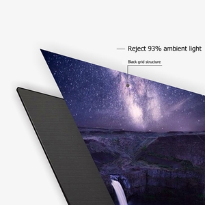 """Image 2 - ALR Ambient Light Rejecting Projection Screens 80"""" Ultra thin border Frame Specialize for Optoma Xiaomi UST projectors"""