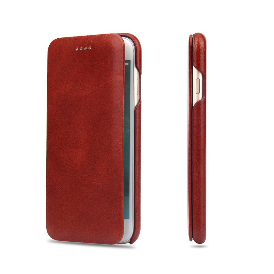 imágenes para Cuero de lujo de negocios original cajas del teléfono móvil de accesorios para apple iphone 6 6 s/6 Más Completa Borde Cerrado Cubierta Del Caso Del Tirón