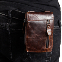Genuine Leather Waist Packs Fanny Pack Belt Bag Phone Pouch Bags New Travel Waist Pack Fashion Male Small Waist Bag