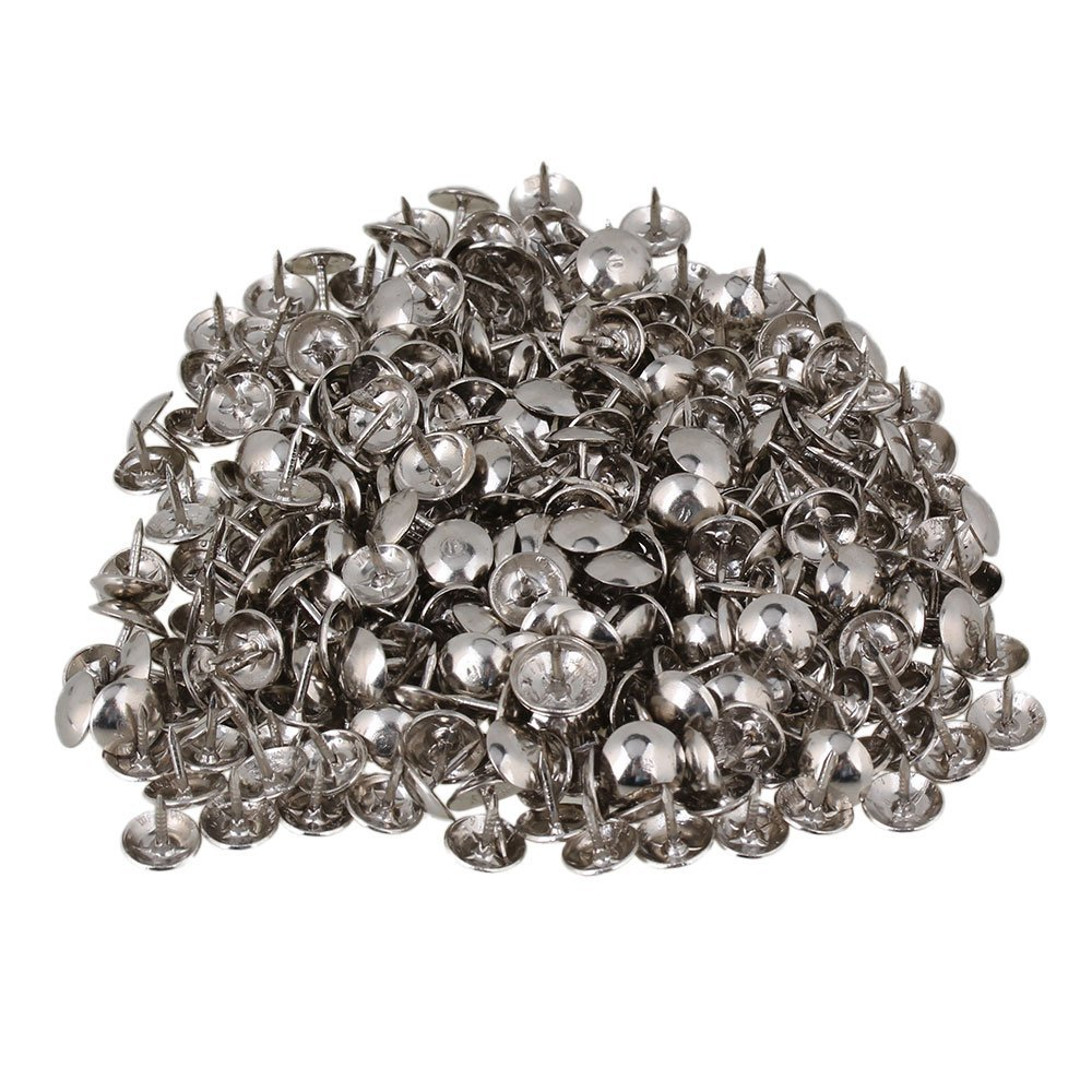 9 x 9mm Round Dome Head Silver Iron Upholstery Nails Stud Tack Furniture Decorative Pins Pack of 200