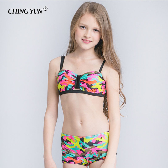 b62cac5f25 CHING YUN Bikini Children's Swimwear Ball Cute Swimwear Two Piece Colorful  pattern Kid Swimsuit Girls Bathing Suit beach wear