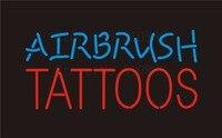 Niestandardowe NEON Sign Board Tatuaże Airbrush GLlass Rury Beer Bar klub Pub Znaki Signage Wyświetlacz Sklep Sklep Szyld Światła 17*14