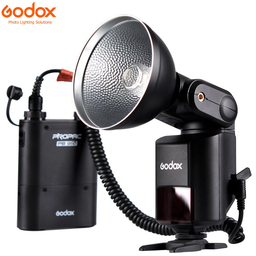 Godox Witstro AD360 AD-360 Powerful Portable Speedlite Pro outdoor Flash Light + PB960 Power Battery Pack Kit Black Studio flash 3m adhesive tape bicycle helmet mount for 1 4 camera black