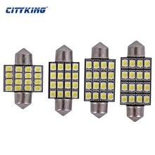 free shipping 100pcs  Festoon LED 31mm 36mm,39mm,41m 16SMD 1210 3528 LED Festoon Interior LED Dome Light reading Bulb For Car